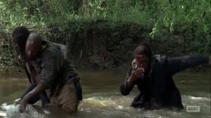 Thank You- Michonne, Scott, and Heath make their way through the water