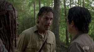 Thank You- Rick speaks privately with Glenn and Michonne