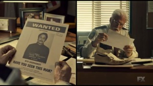 The Myth of Sisyphus- Hank observes Rye's wanted poster