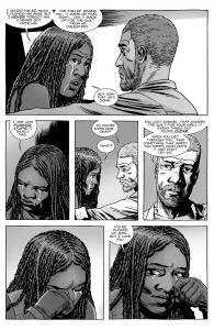 The Walking Dead #147- Michonne tells Rick that she pushed Ezekiel away
