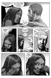 The Walking Dead #147- Michonne tells Rick that she pushed Ezekiel away