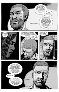 The Walking Dead #147- Rick tells Michonne that he feels closer to Andrea than with Lori