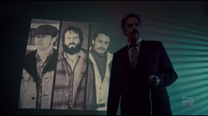Waiting for Dutch- Joe Bulo, played by Brad Garrett, presents information regarding the Northern Expansion Strategy and how the Gerhardt family factors in- Fargo, FX
