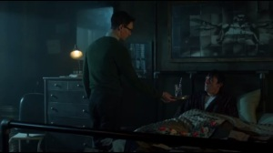 A Hard Pill to Swallow- Nygma offers Penguin a glass of water