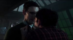 A Hard Pill to Swallow- Penguin holds a knife to Nygma's throat