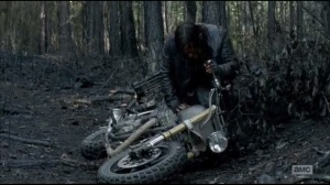 Always Accountable- Daryl hides the motorcycle