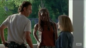 Heads Up- Deanna gives Rick and Michonne some Alexandria expansion plans