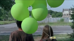 Heads Up- Glenn and Enid arrive outside the Safe Zone