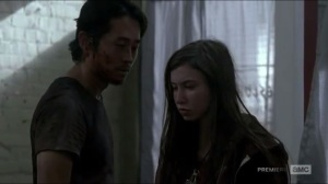 Heads Up- Glenn reminds Enid that she pointed a gun at him, so he's not an asshole