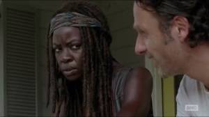 Heads Up- Michonne disagrees with Rick