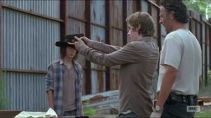 Heads Up- Rick and Carl teach Ron how to shoot