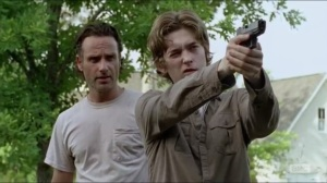 Heads Up- Rick shows Ron how to aim