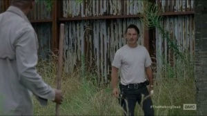 Heads Up- Rick tells Morgan that they need to talk, later