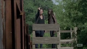 Heads Up- Tara gives Rick the bird