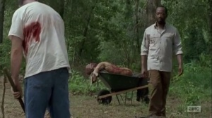 Here's Not Here- Morgan brings Tabitha and the walker to the grave site