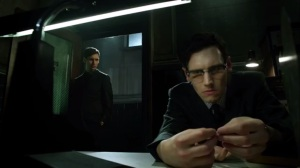Mommy's Little Monster- Nygma examines the clue in Kringle's hand
