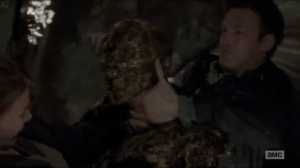 Now- Aaron saves Maggie