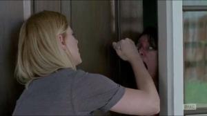 Now- Jessie stabs a walker