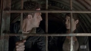 Now- Maggie tells Aaron to stop going forward because it's over