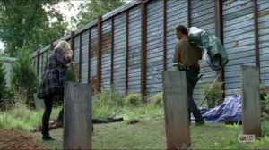 Now- Rick tells Jessie that killers are not to be buried within the community