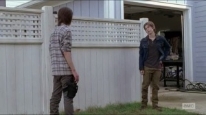 Now- Ron and Carl talk about Enid
