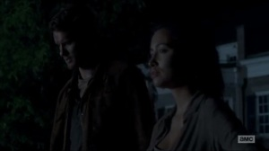 Now- Spencer relieves Rosita