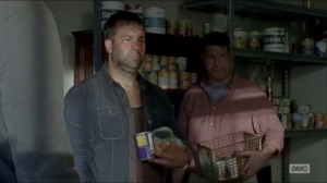 Now- Spencer shames the townspeople hoarding supplies
