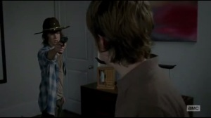 Start to Finish- Carl demands that Ron hand over his gun