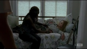 Start to Finish- Michonne patches up Deanna and finds a bite mark