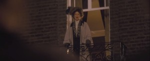 Suffragette- Emmeline Pankhurst, played by, who else, Meryl Streep, addresses the crowd of women