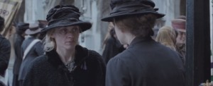 Suffragette- Violet shows up to Parliament with fresh bruises