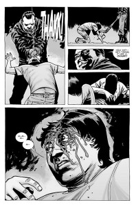 The Walking Dead #100- Negan brings Lucille down on Glenn's head
