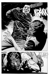 The Walking Dead #100- Negan cracks Glenn across his skull