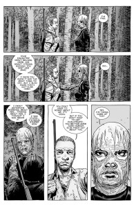 The Walking Dead #148- Alpha to make sure she's not challenged
