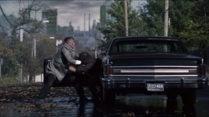 Worse Than a Crime- Alfred throws a guy from his car