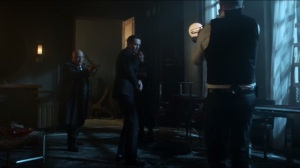 Worse Than a Crime- Jim and Barnes have a standoff with Galavan in between