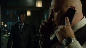 Worse Than a Crime- Lucius tells Barnes about Jim Gordon's location