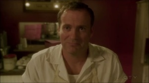 A View in the Dark- Bakery employee, played by Nick Hoffa, asks Peggy if she's alright