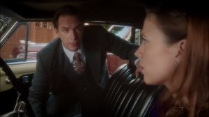 A View in the Dark- Edwin shows Peggy the inner workings of Howard Stark's car