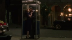 A View in the Dark- Jason and Peggy kiss in the phone booth