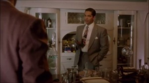 Better Angels- Agent Vega, played by Rey Valentin, thinks that Wilkes is a Communist spy