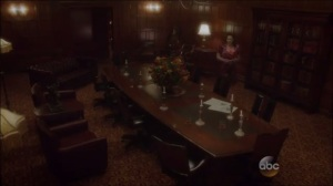 Better Angels- Peggy enters the Council of Nine's secret meeting room and finds suspicious newspapers