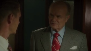 The Lady in the Lake- Vernon Masters, played by Kurtwood Smith, has FBI agents take Dottie into federal custody