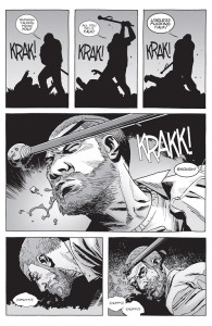 The Walking Dead #150- Rick beaten by Olivia's husband