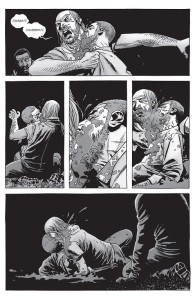 The Walking Dead #150- Rick bites and kills Olivia's husband