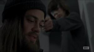 Knots Untie- Carl holds a gun to Jesus' head