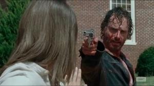 Knots Untie- Rick points his gun at Jesus