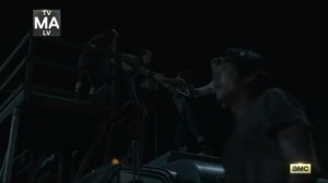 No Way Out- Daryl, Sasha, and Abraham arrive at the Safe Zone