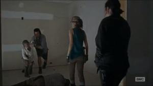 No Way Out- Eugene, Rosita, and Tara see that Carol has awaken