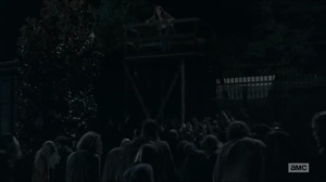 No Way Out- Maggie spots Glenn drawing walkers away from her